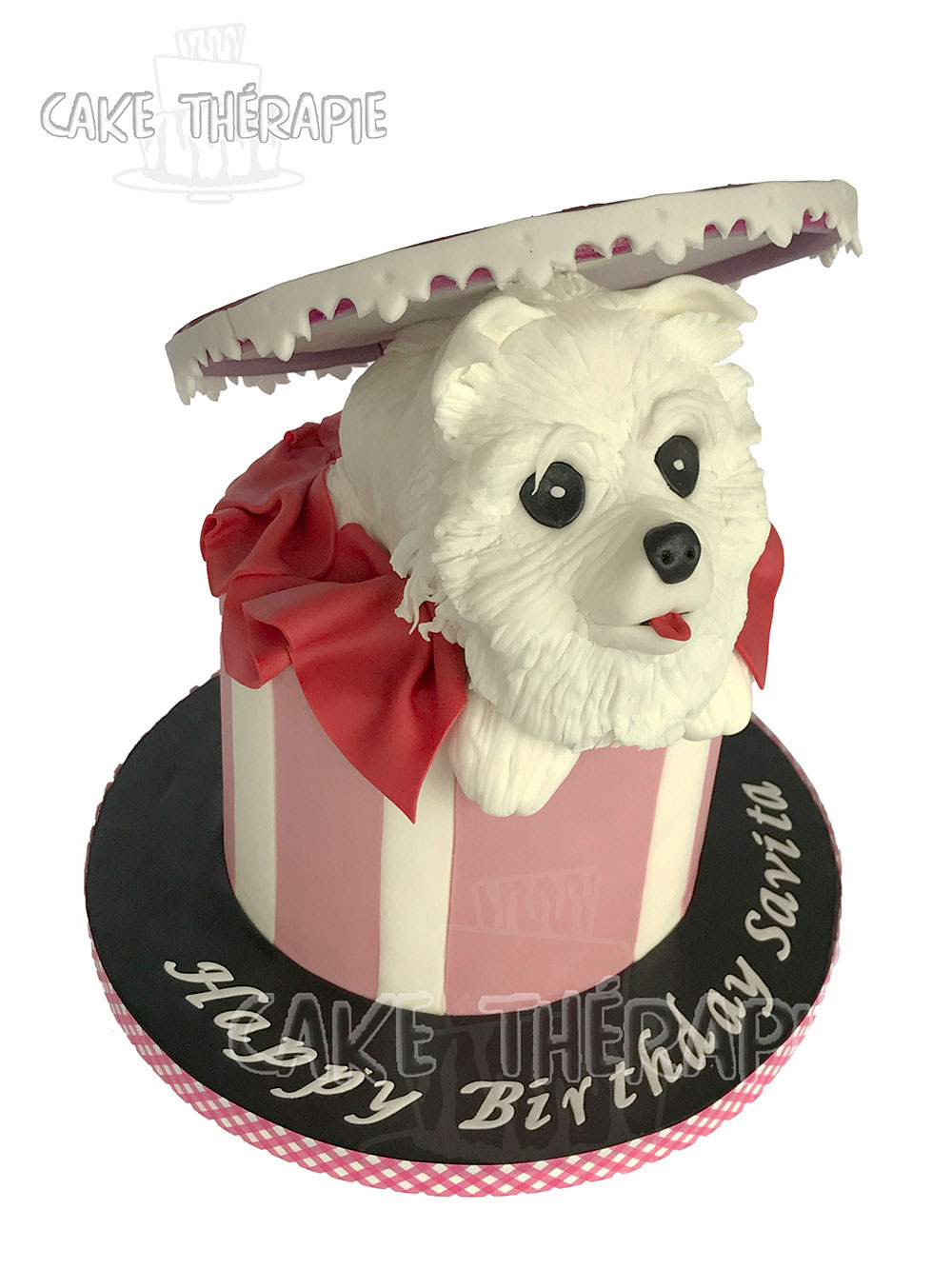 Puppy In A Gift Box Cake